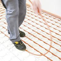 Fußbodenheizung Trockenbau